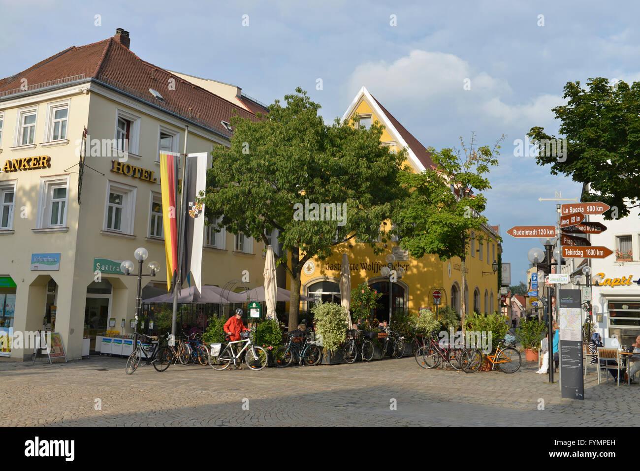 Altstadt, Bayreuth, Bayern, Deutschland - Stock Image