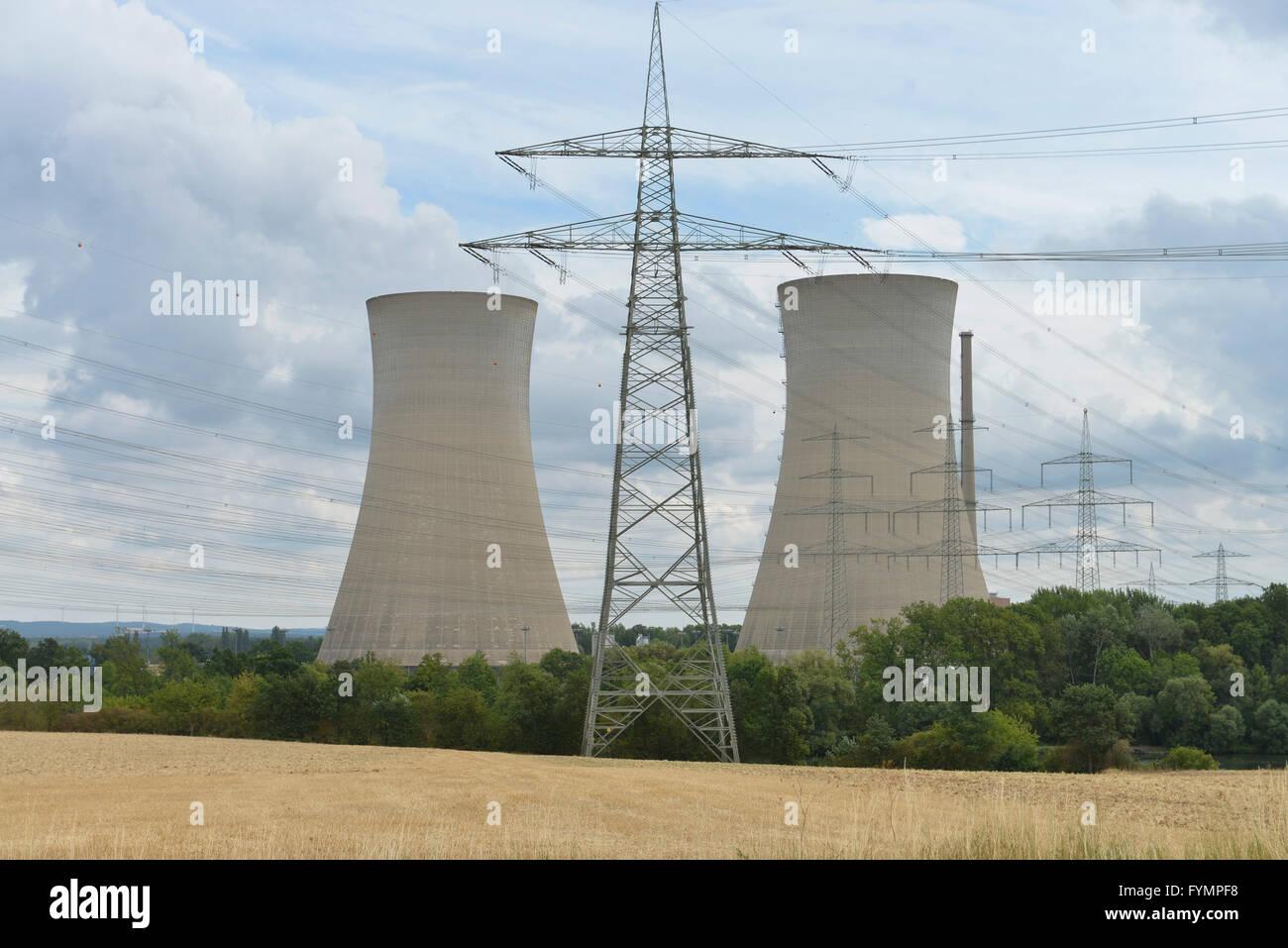 Kernkraftwerk Grafenrheinfeld, Bayern, Deutschland - Stock Image