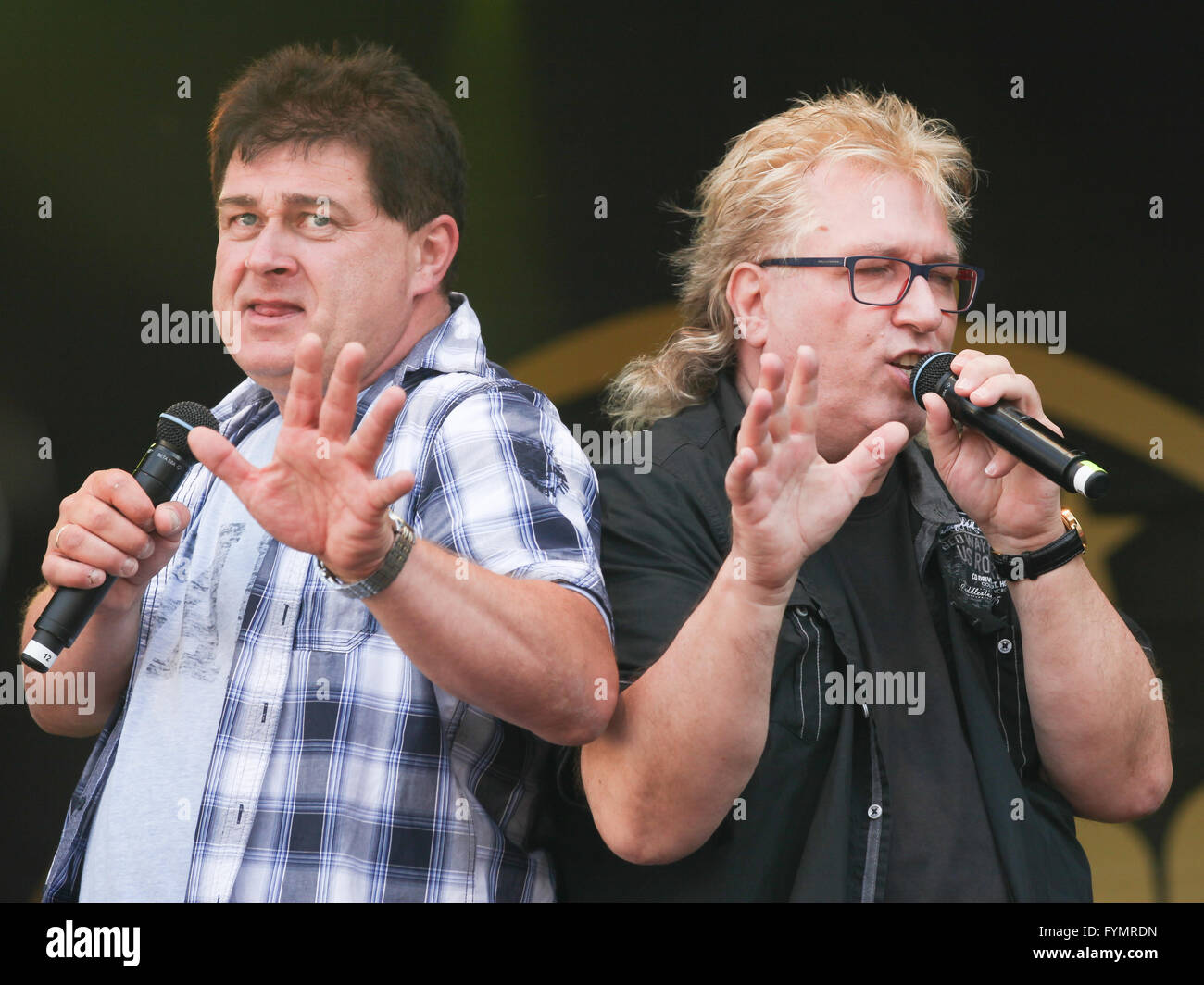 Duo Olaf&Hans - Stock Image