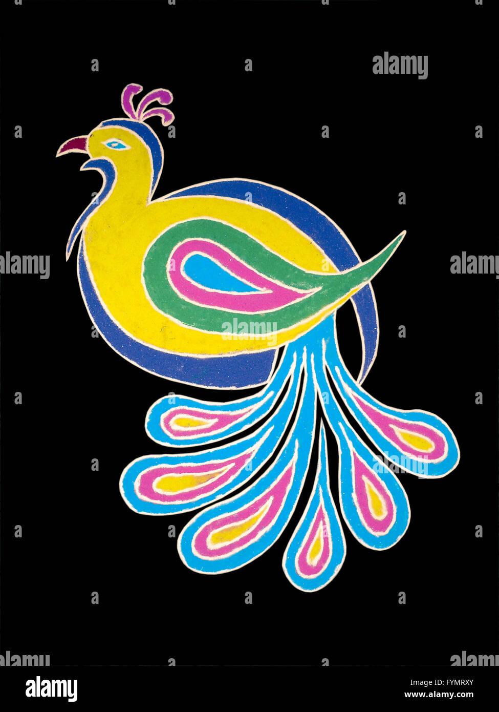 Colorful Rangoli during Diwali festival Stock Photo