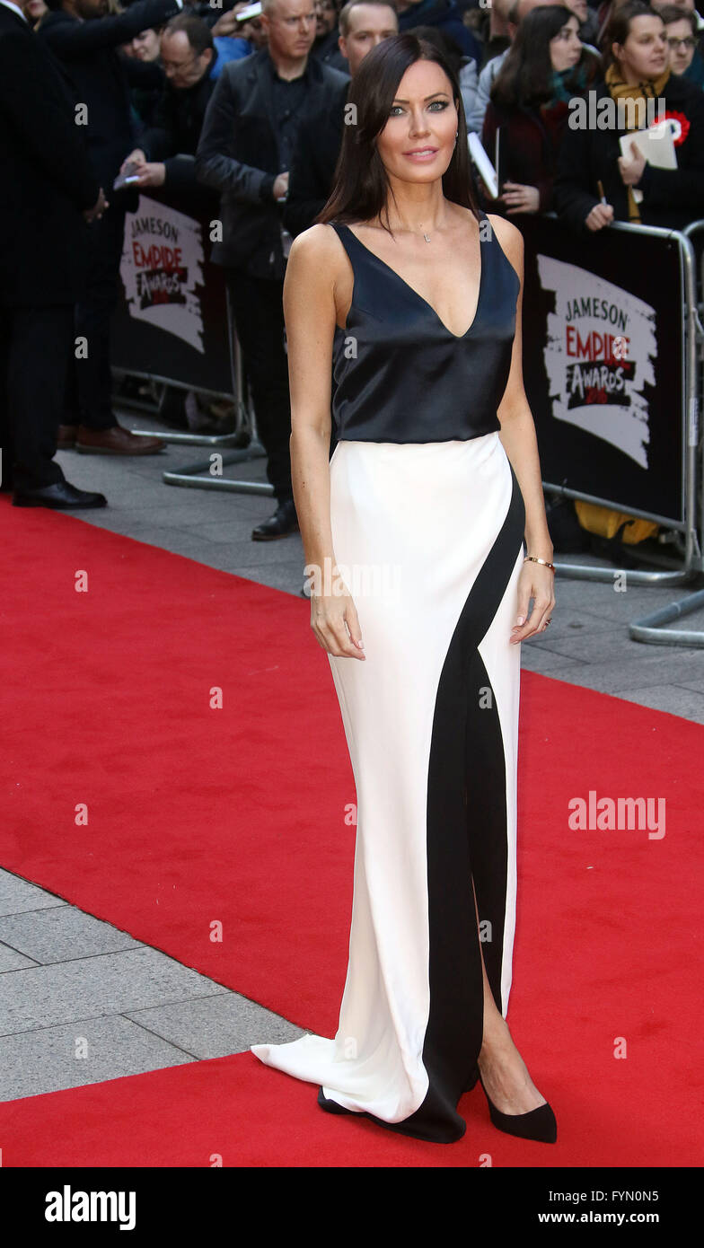 March 20, 2016 - Linzi Stoppard attending 'Jameson Empire Awards 2016' at Grosvenor House Hotel in London, - Stock Image