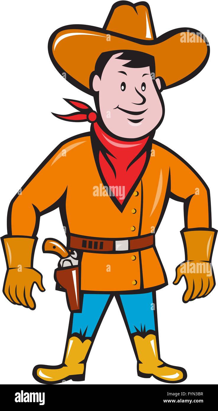 3fb92bc06 Cowboy Standing Drawing Gun Cartoon Stock Photo: 103111227 - Alamy