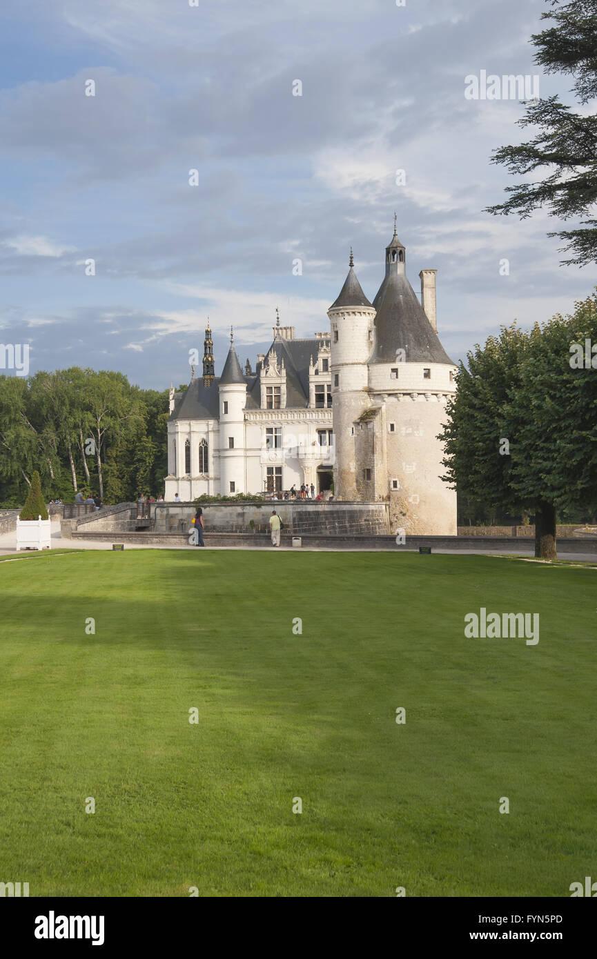 Chenonceau (fr. Château de Chenonceau) - Stock Image