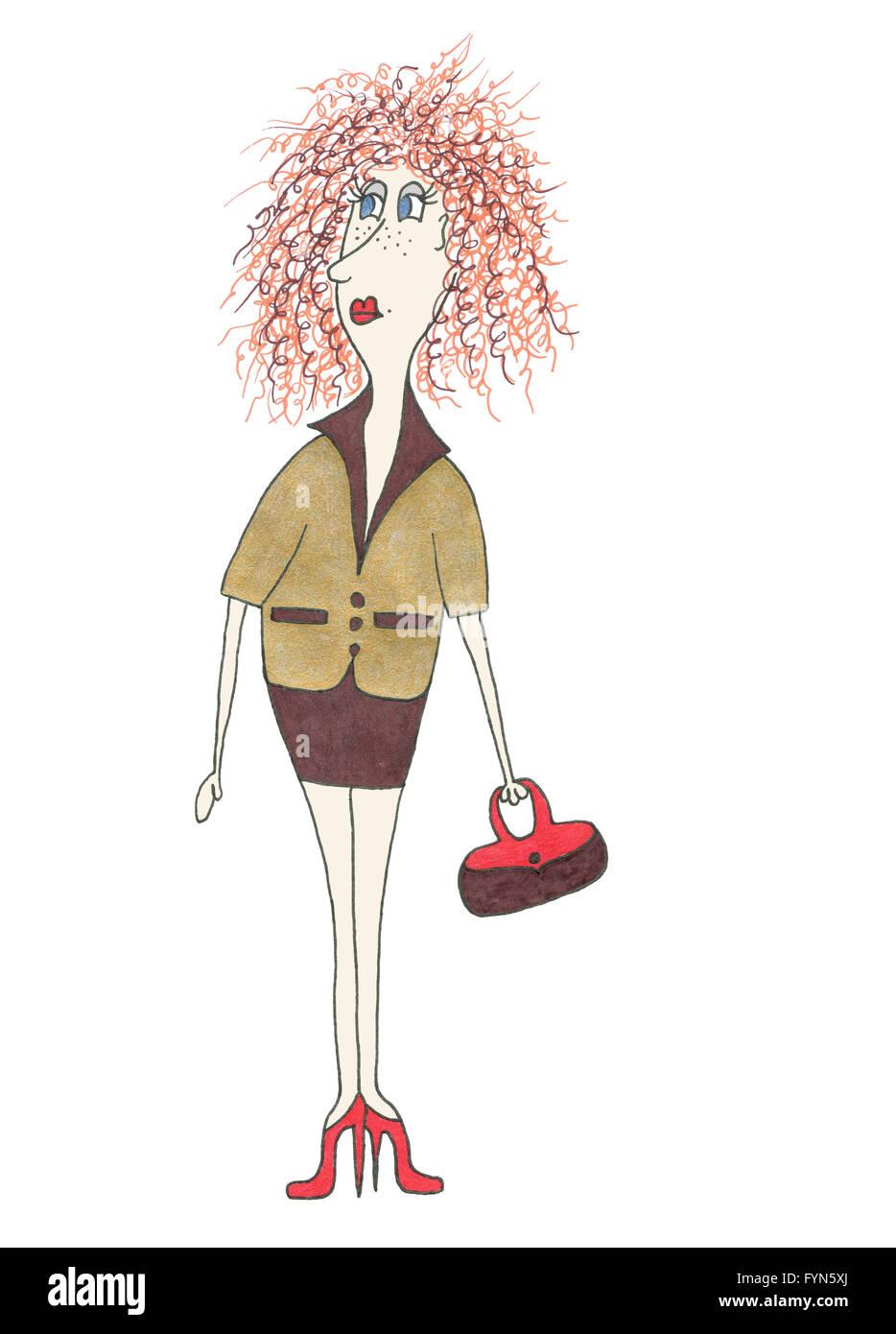 Businesswoman. Illustration. - Stock Image