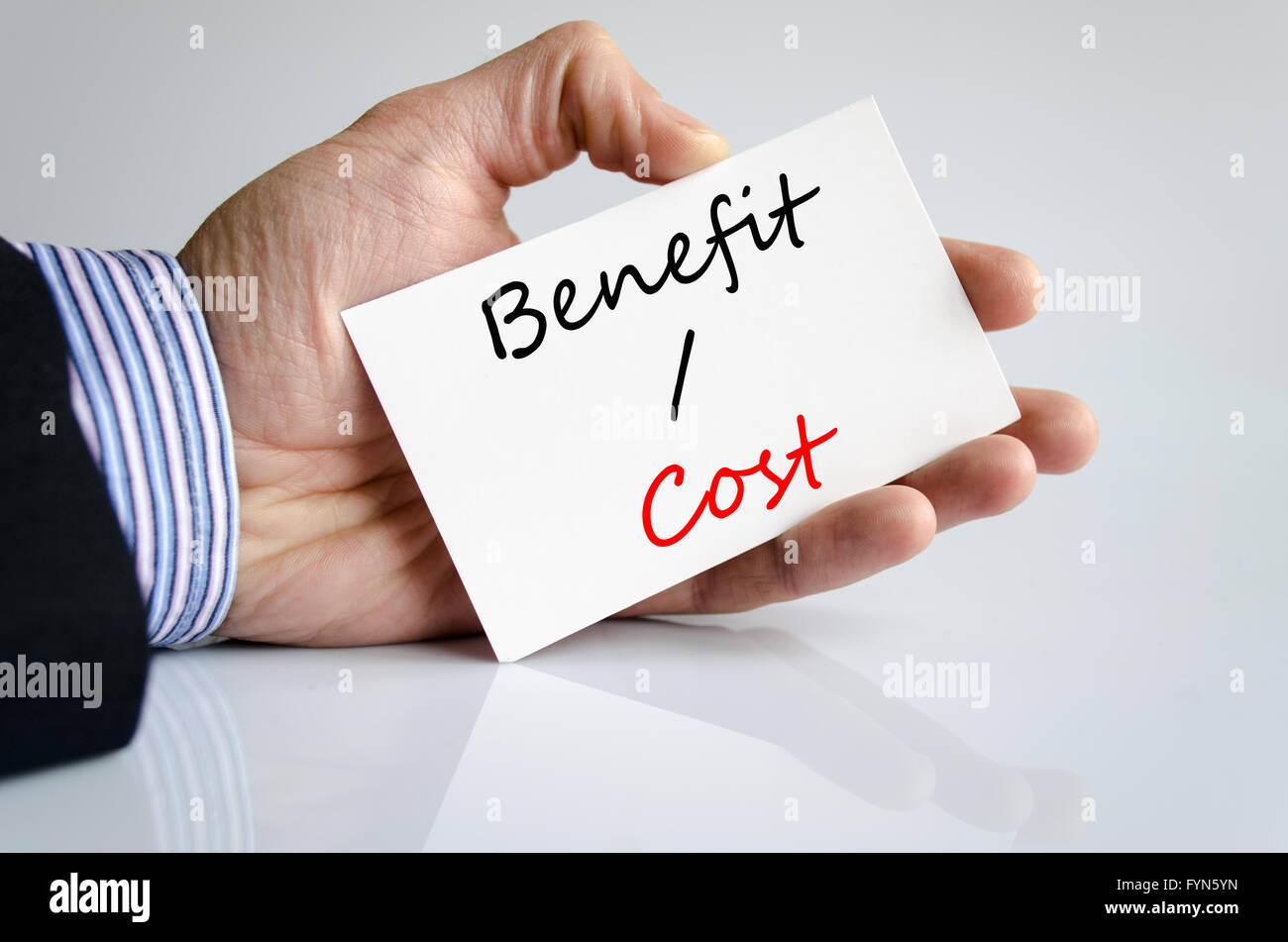 Benefits cost Text Concept - Stock Image