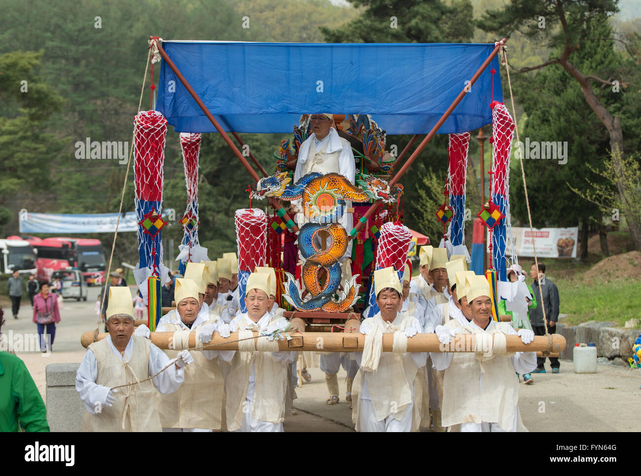Gyeonggi-do, South Korea - April 22, 2016: Tributes, South Korea Traditional events for the deceased - Stock Image