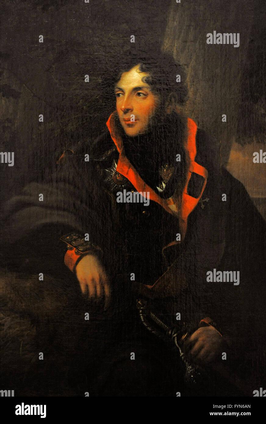 Portrait of Nikolai M. Kamensky (1776-1811). Rusian commander. By the German painter Friedrich Georg Weitsch (1758 Stock Photo