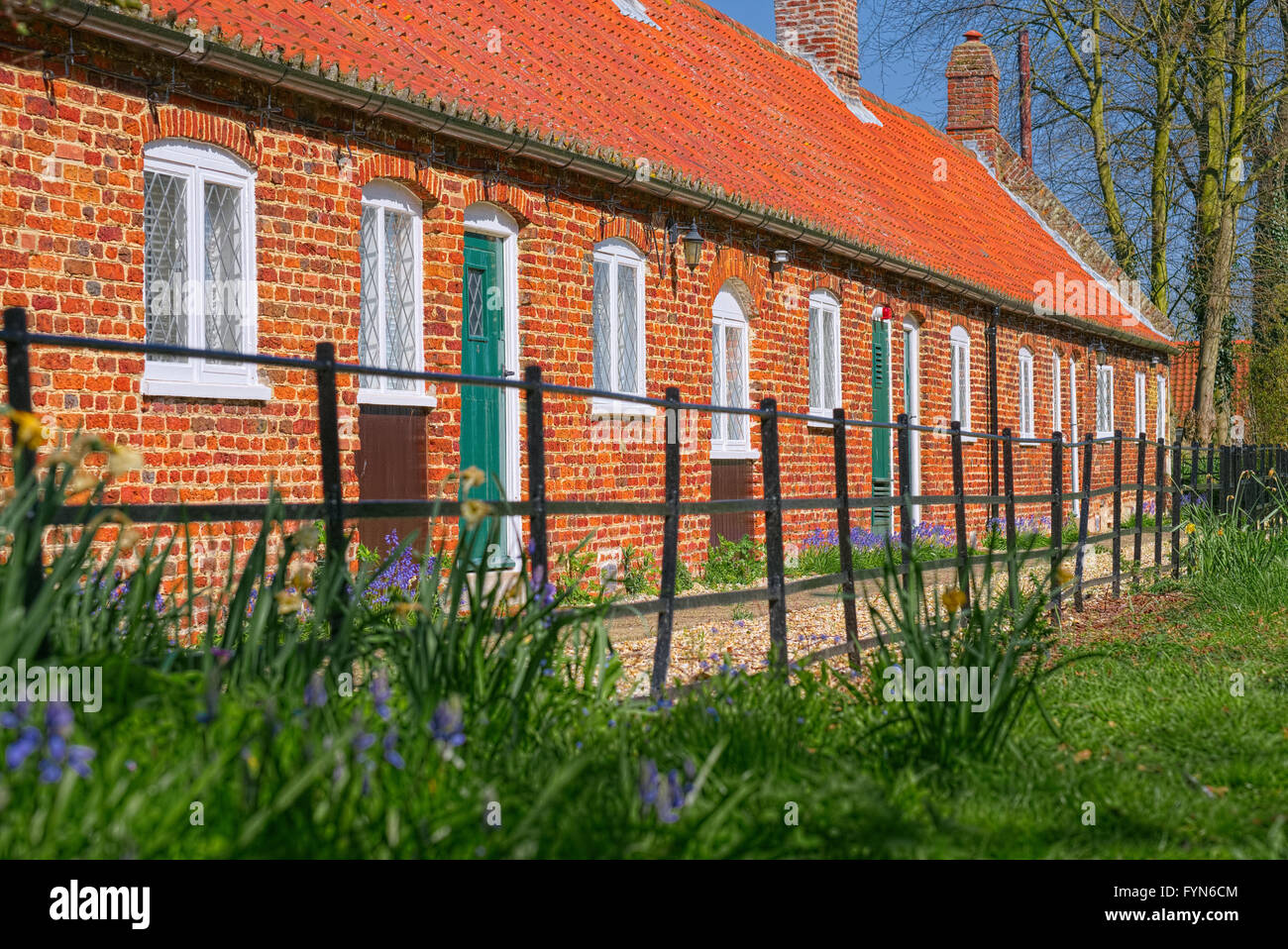 Alms Houses - Stock Image