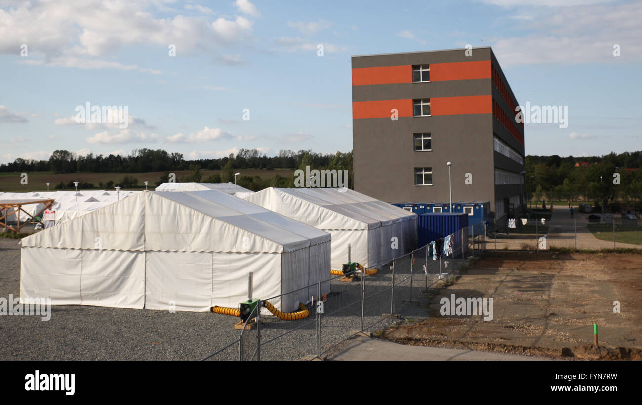 central contact point for asylum seekers Stock Photo