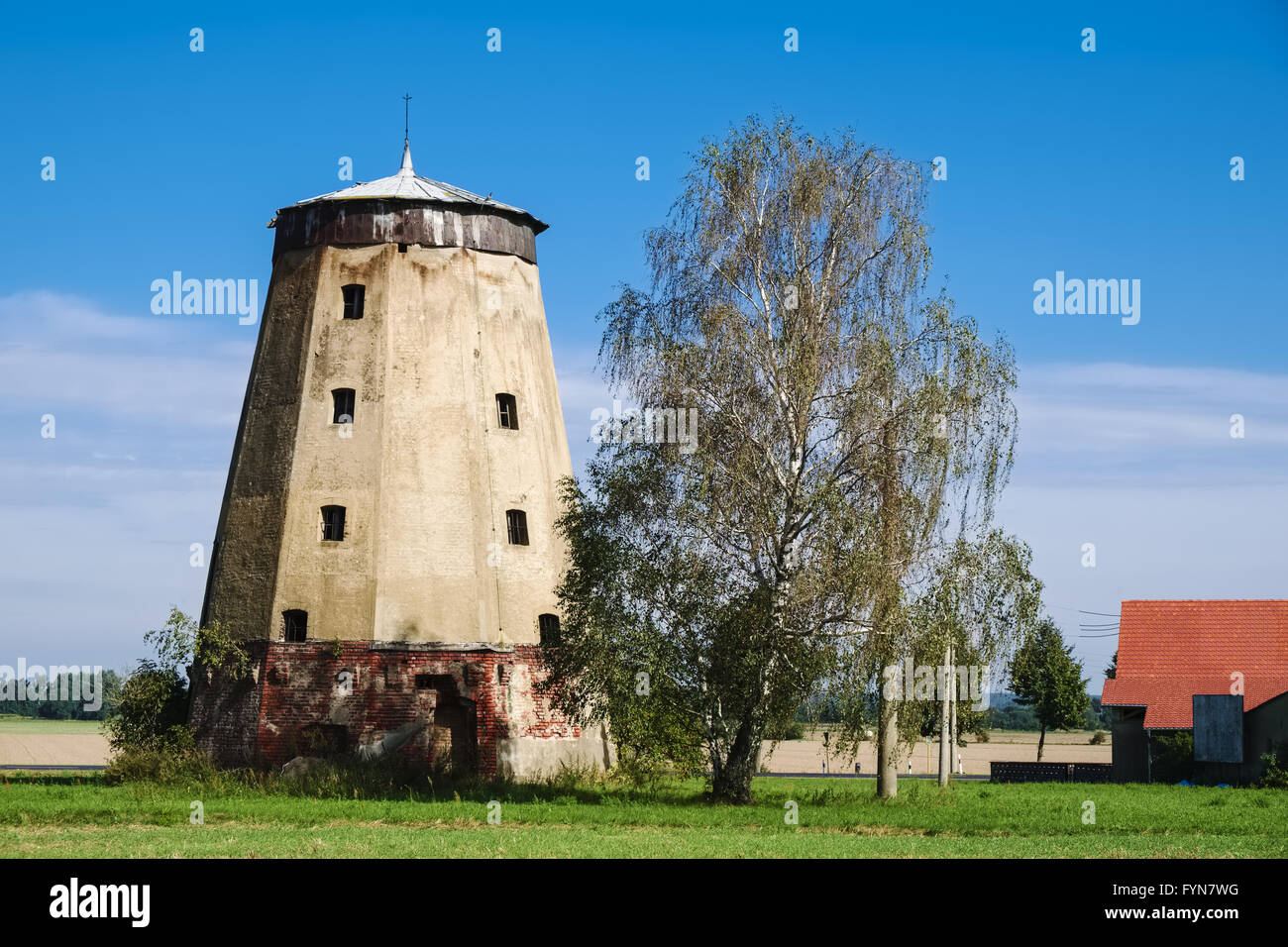 Windmill in Rosenthal near Dahme/Mark, Germany - Stock Image