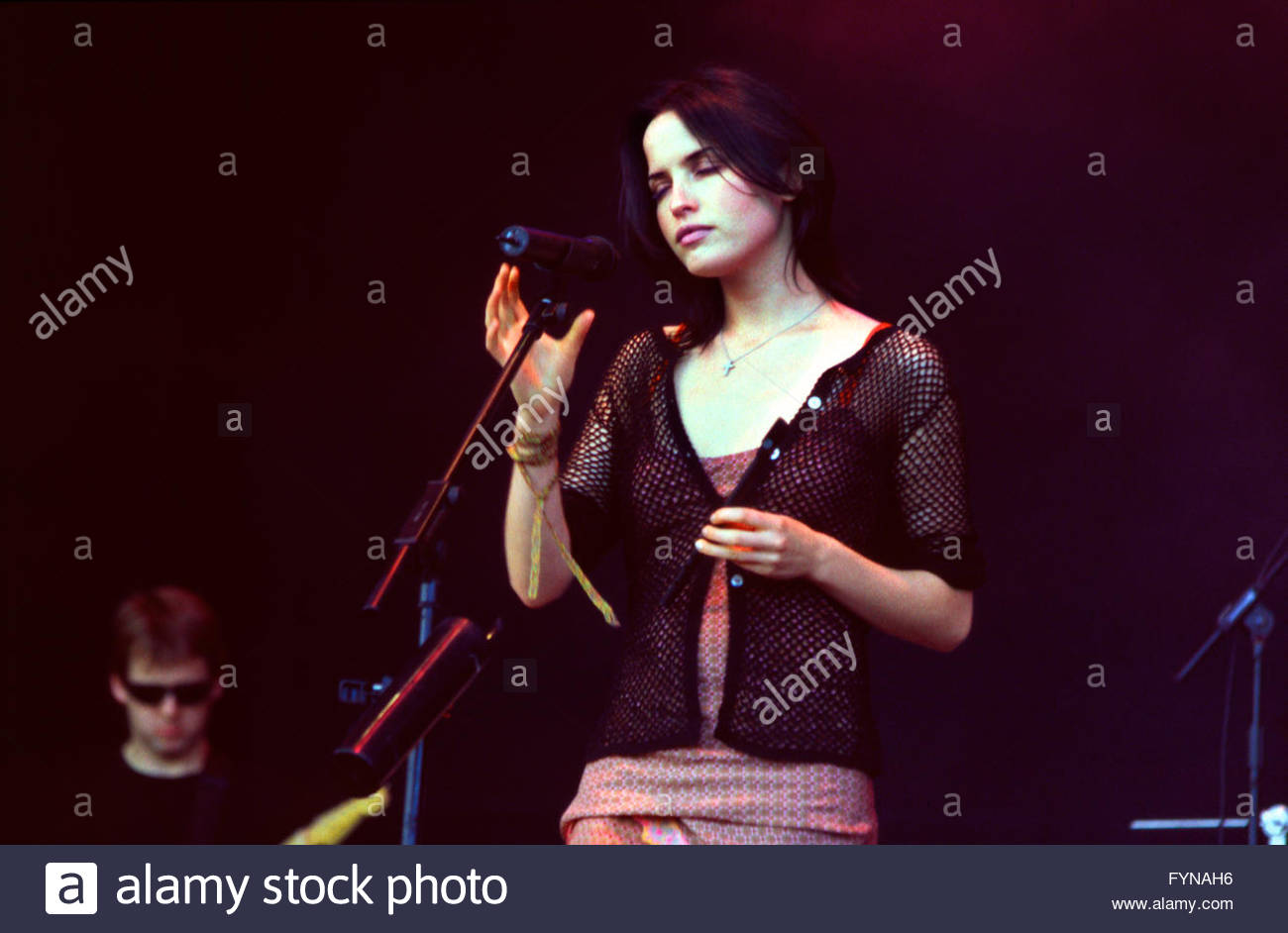 Andrea corr stock photos andrea corr stock images alamy andrea corr performing with the corrs at the glastonbury festival 1999 somerset england altavistaventures Choice Image