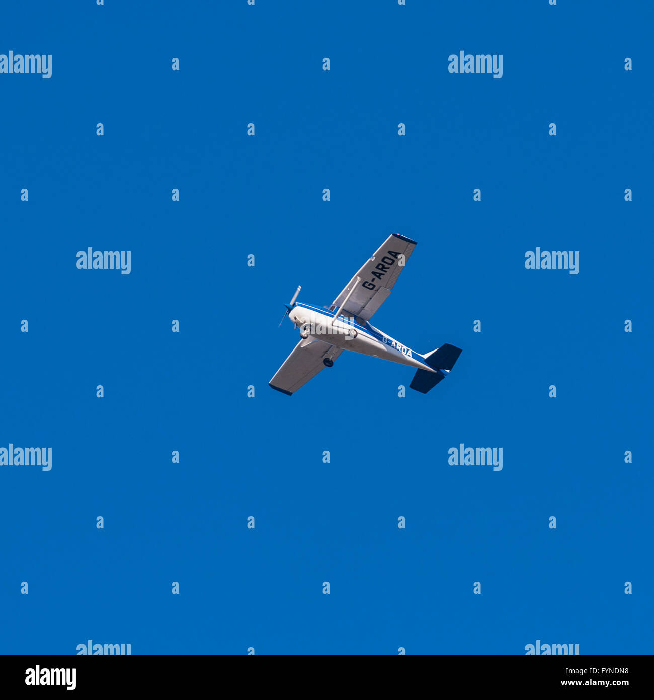 A small light aircraft in the Uk - Stock Image