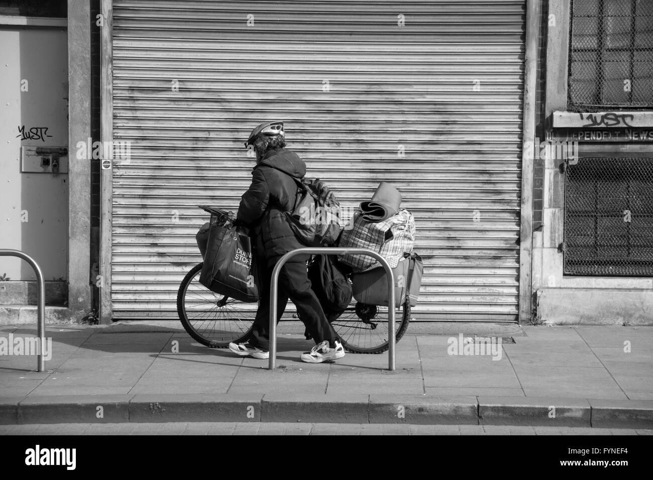 Homeless in Dublin - Stock Image