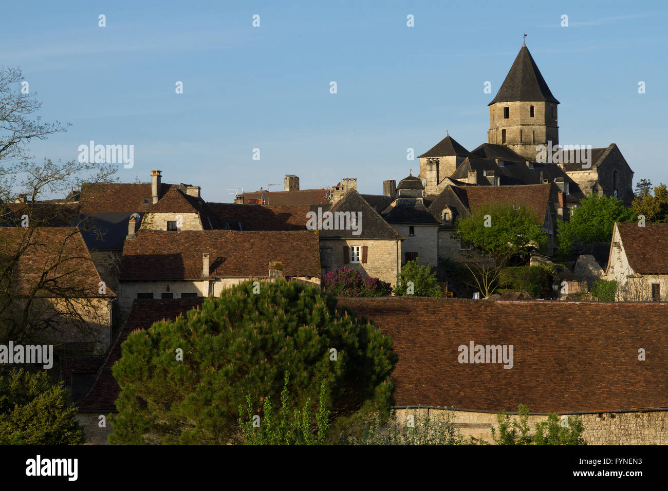 The charming village of Saint Robert Correze France - Stock Image