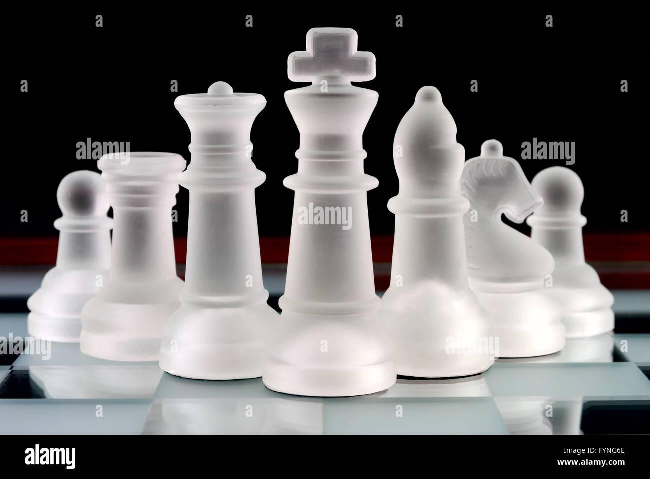 Chess team - Stock Image
