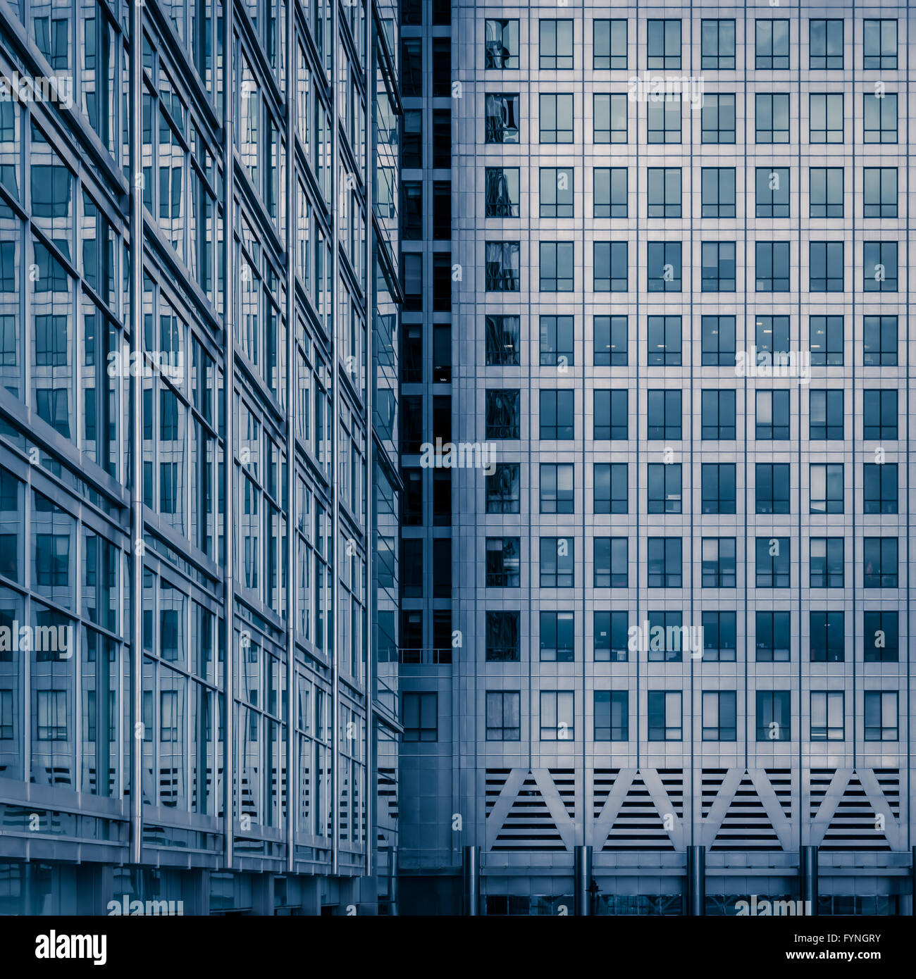 Office buildings in Canary Wharf, London, United Kingdom Stock Photo