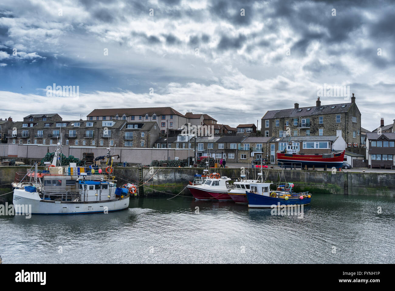 Seahouses a small fishing port on the Northumbrian coast - Stock Image