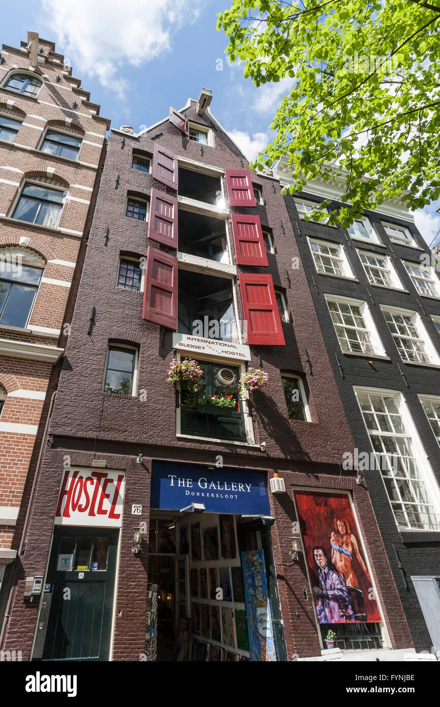 Jourdan Hostel, Amsterdam, Netherlands - Stock Image