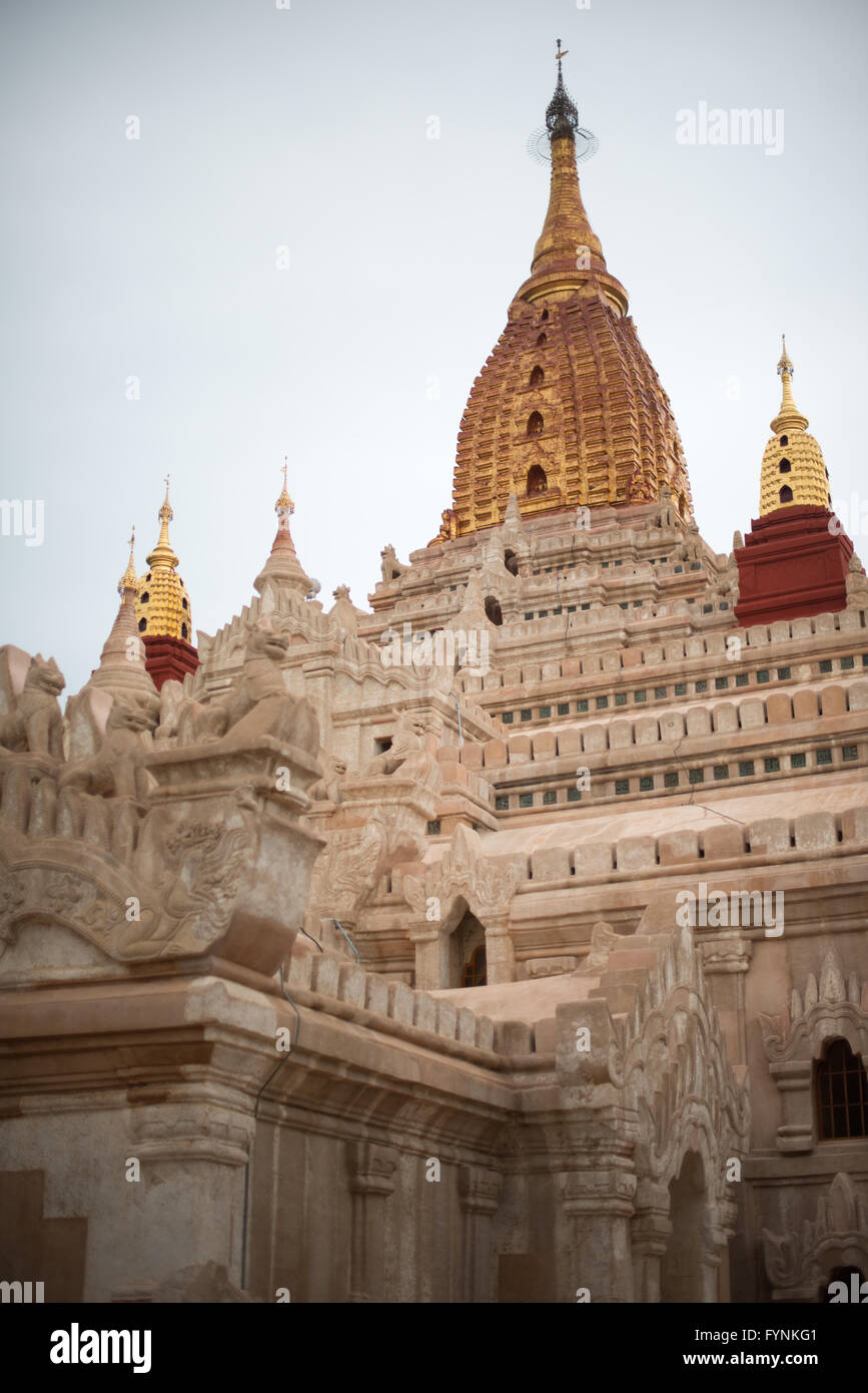 BAGAN, MYANMAR--Ananda Temple is one of the largest and most revered of the thousands of temples, pagodas, and stupas - Stock Image