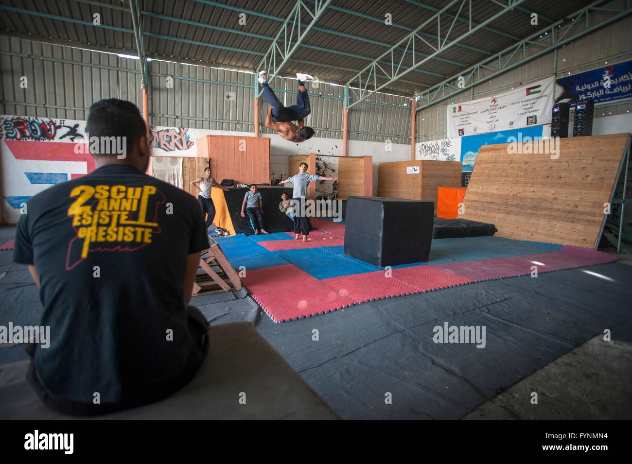'3 Run Gaza' in training at their base in Beit hanoun, Gaza Strip. - Stock Image