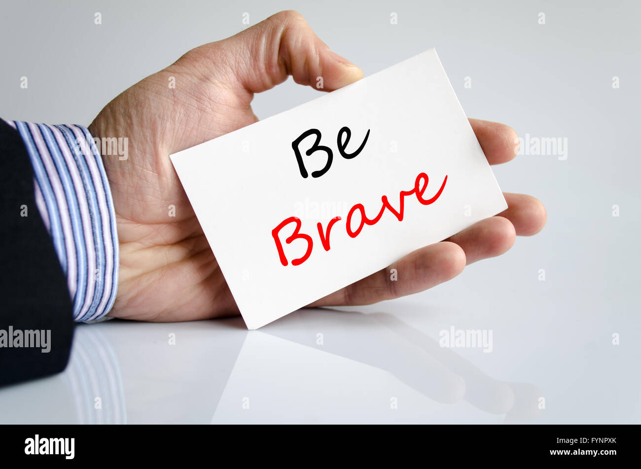 Be brave Text Concept - Stock Image