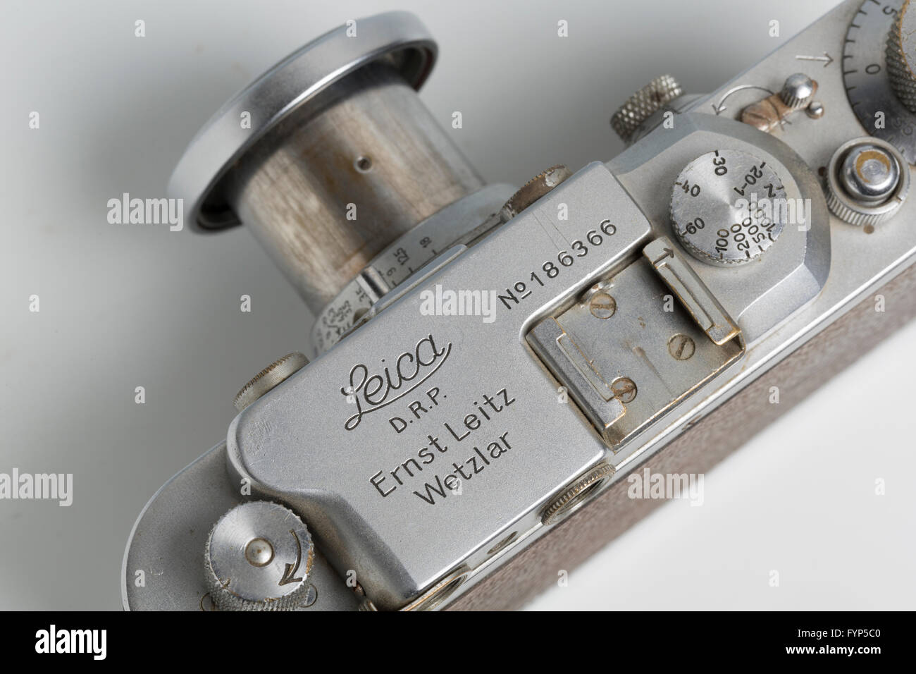 Leica lllA rangefinder camera from 1936 with an Elmar 5cm collapsible lens - Stock Image