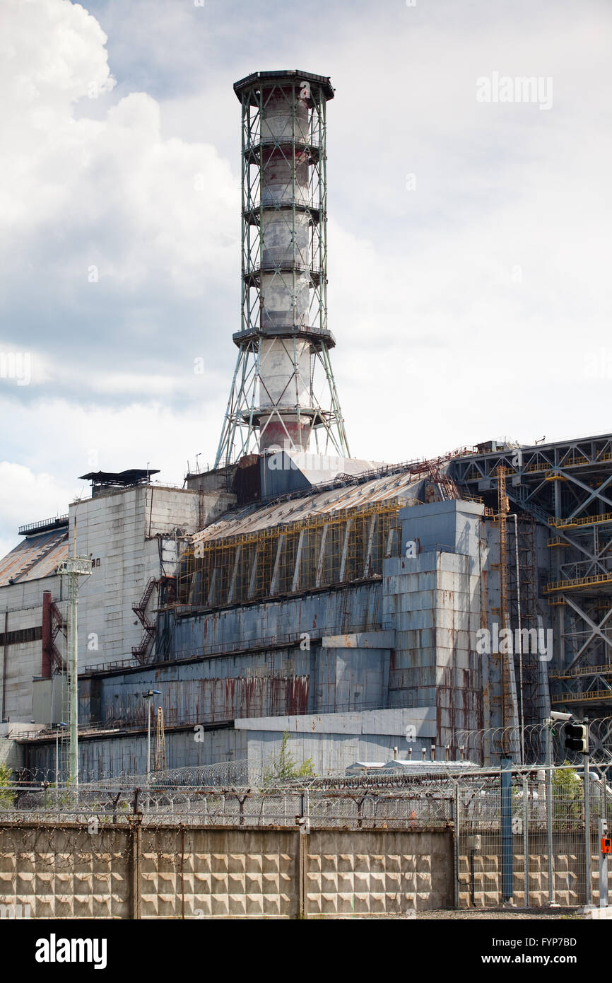 Chernobyl power plant - Stock Image