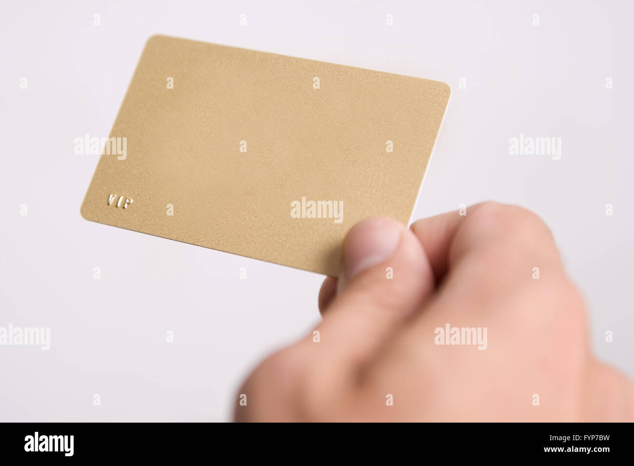 hand and empty vip card - Stock Image