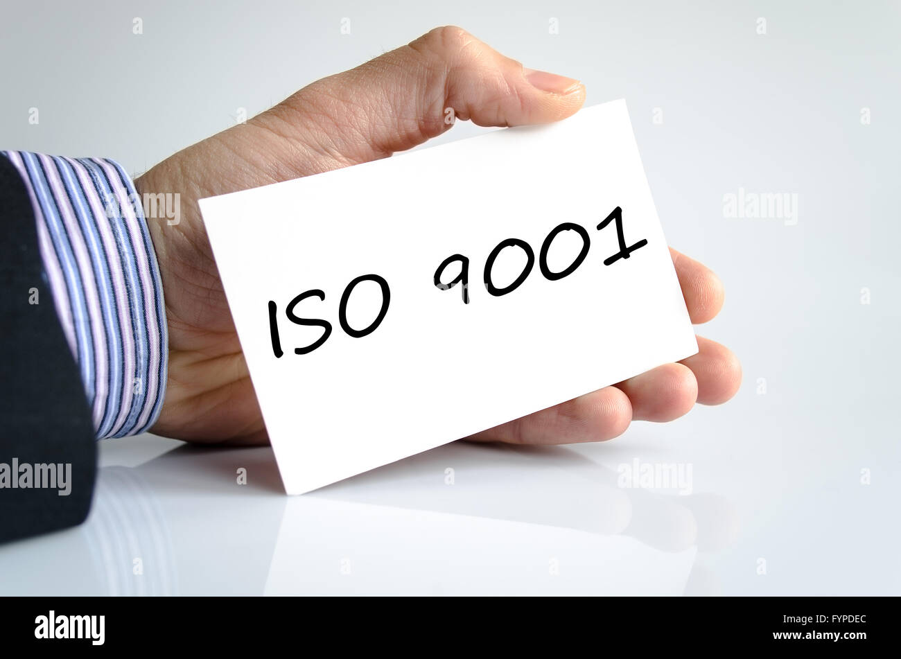 Iso 9001 text concept - Stock Image