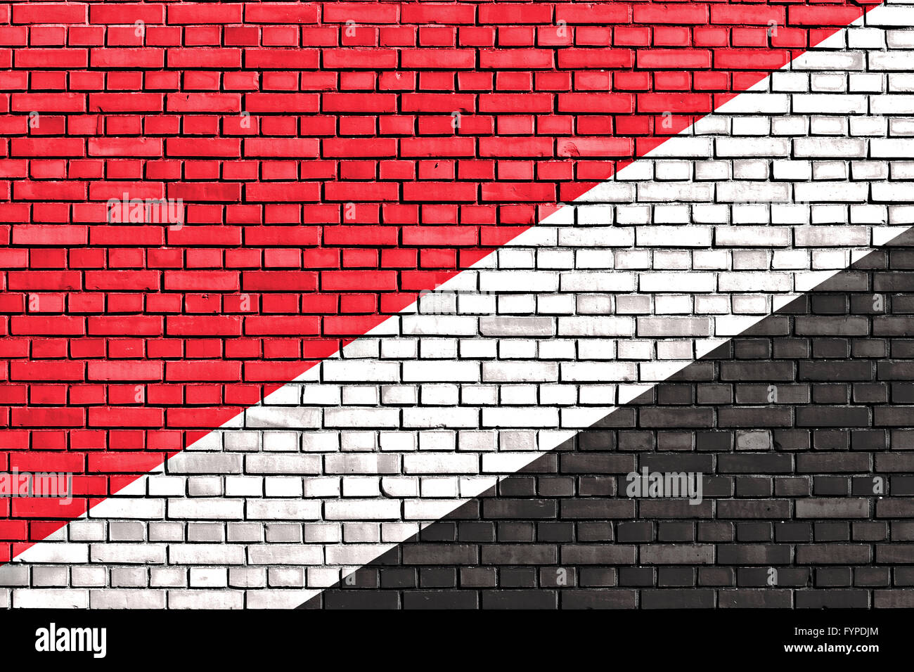 flag of Sealand painted on brick wall - Stock Image