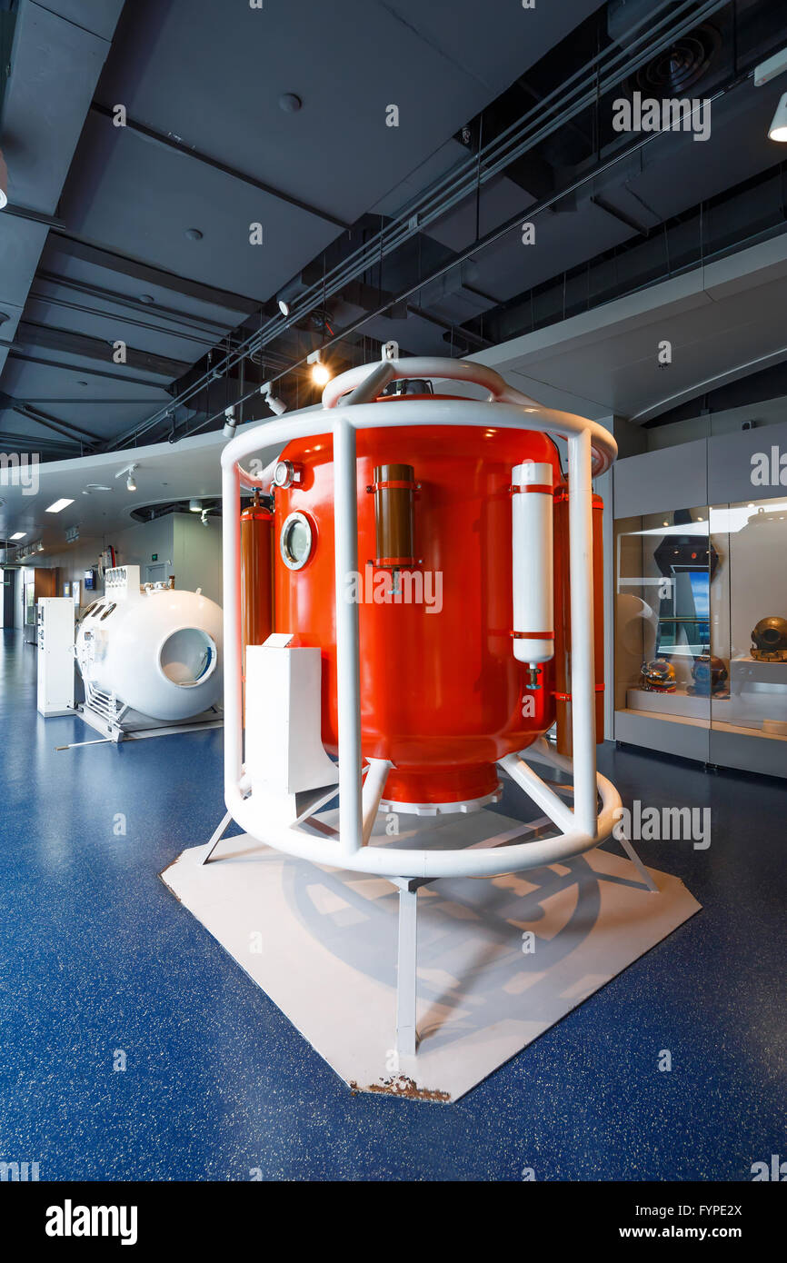 The Pressure chamber for marine diving - Stock Image