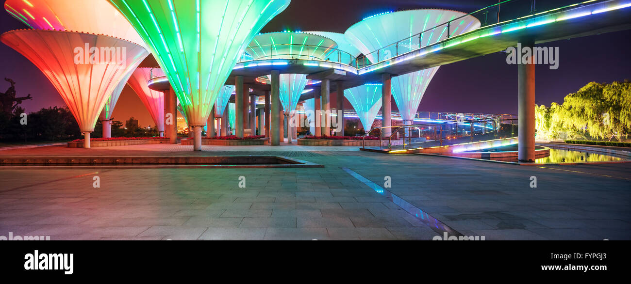 nightscape of park - Stock Image