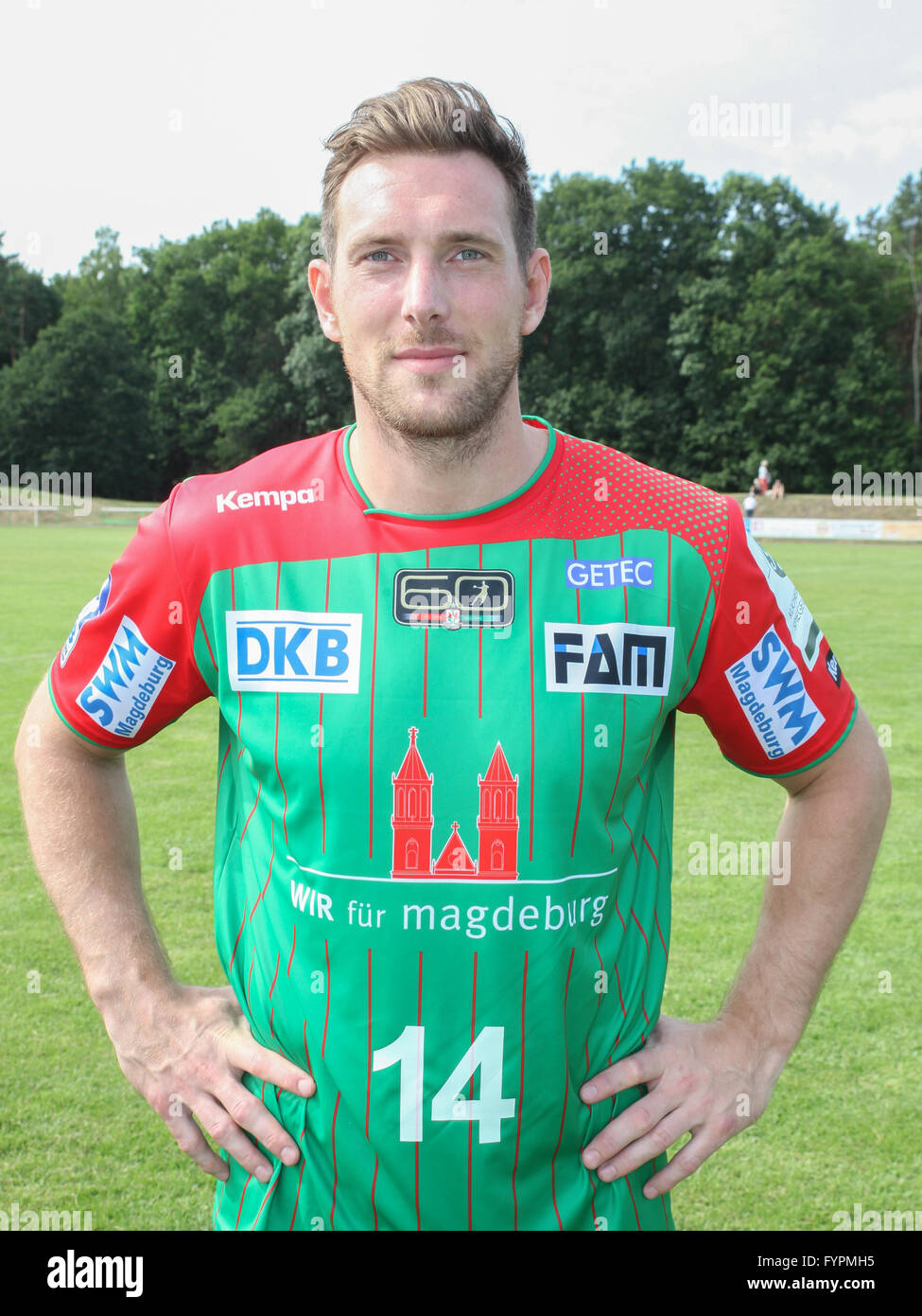 Jacob Bagersted (SC Magdeburg) - Stock Image