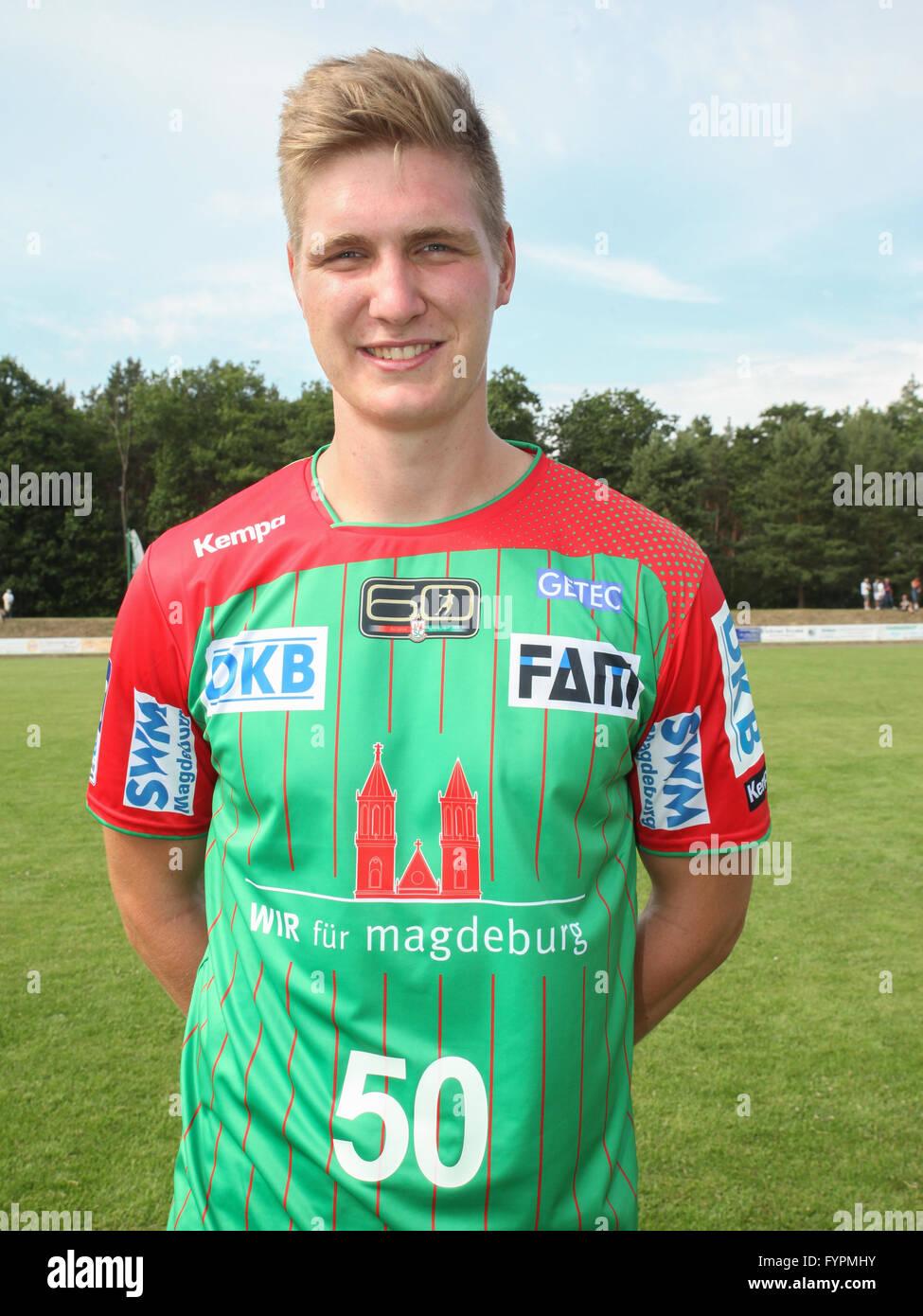 Finn Lemke (SC Magdeburg) - Stock Image