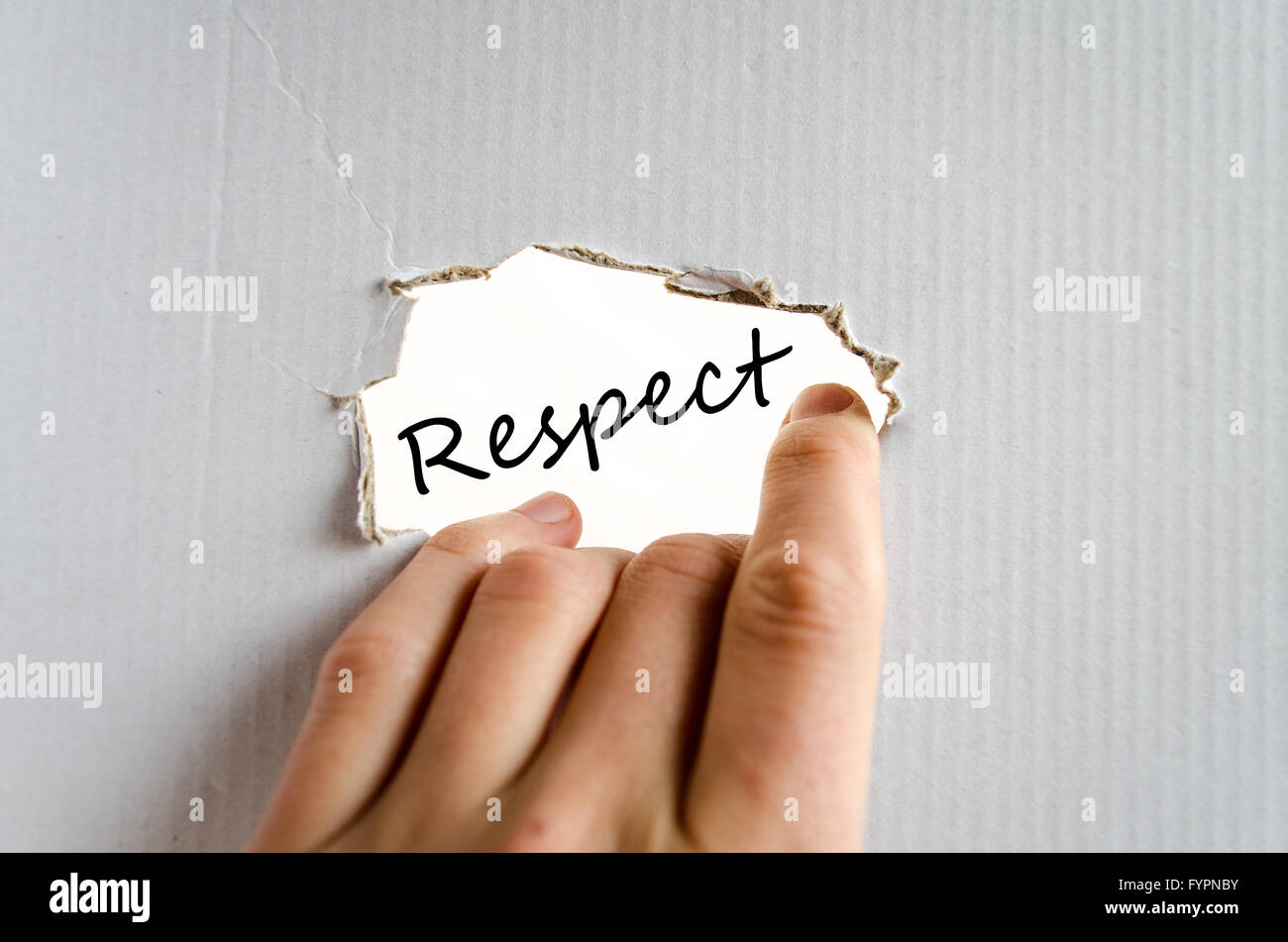 Respect text concept - Stock Image