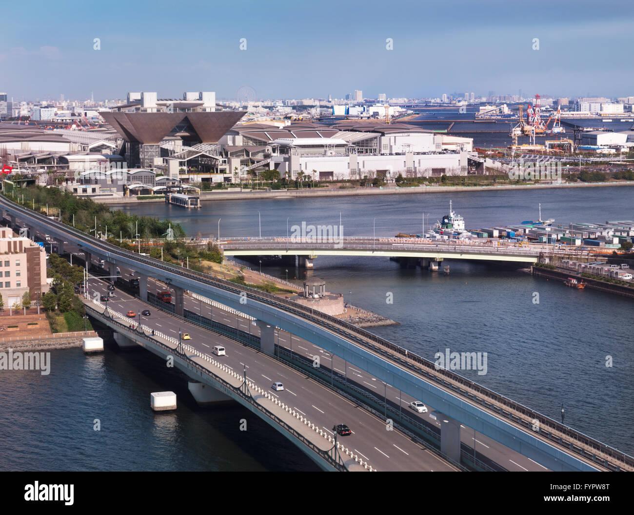 Tokyo Big Sight, International Exhibition Center, Odaiba, Tokyo, Japan - Stock Image