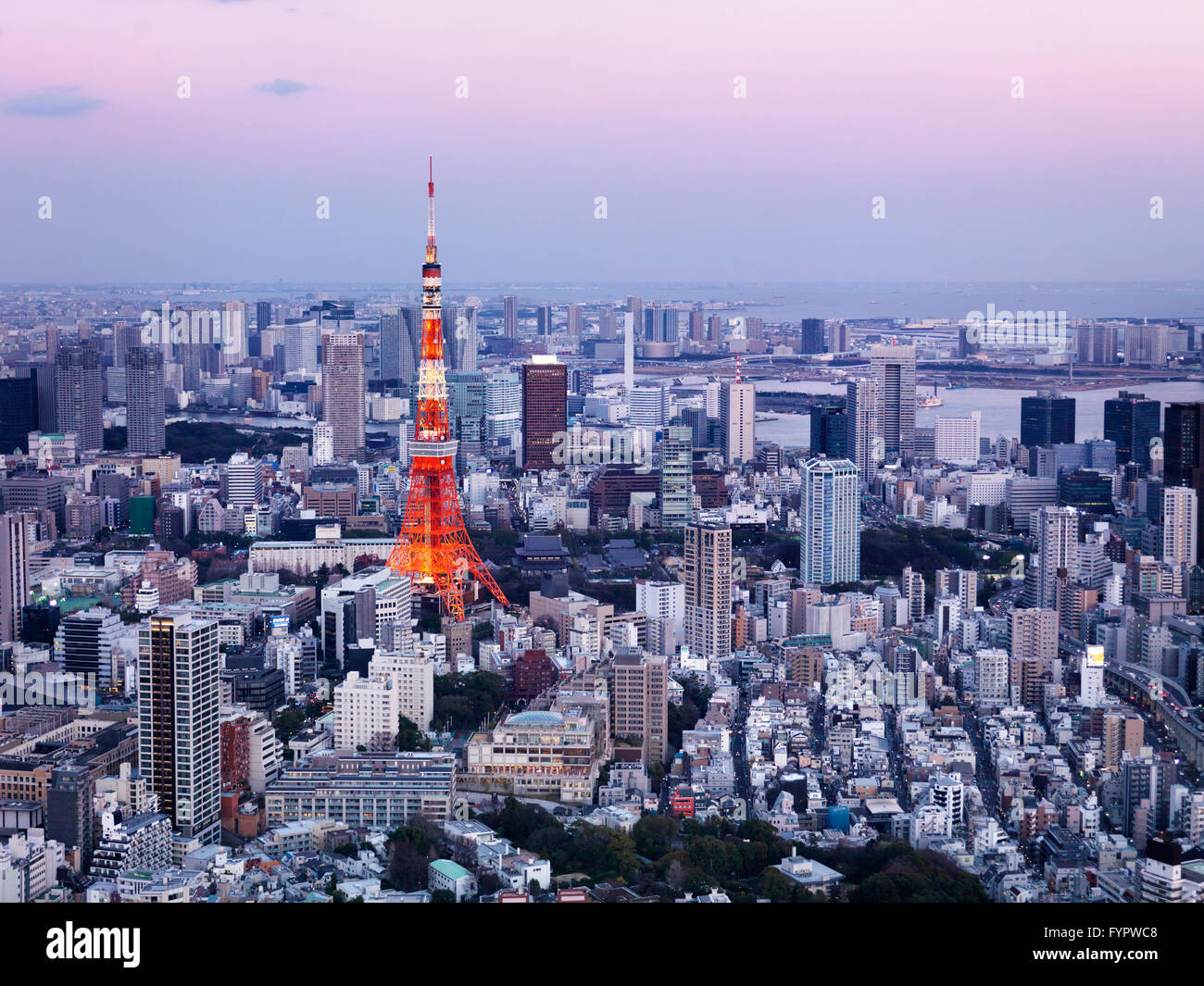 Tokyo Tower, cityscape, Tokyo, Japan - Stock Image