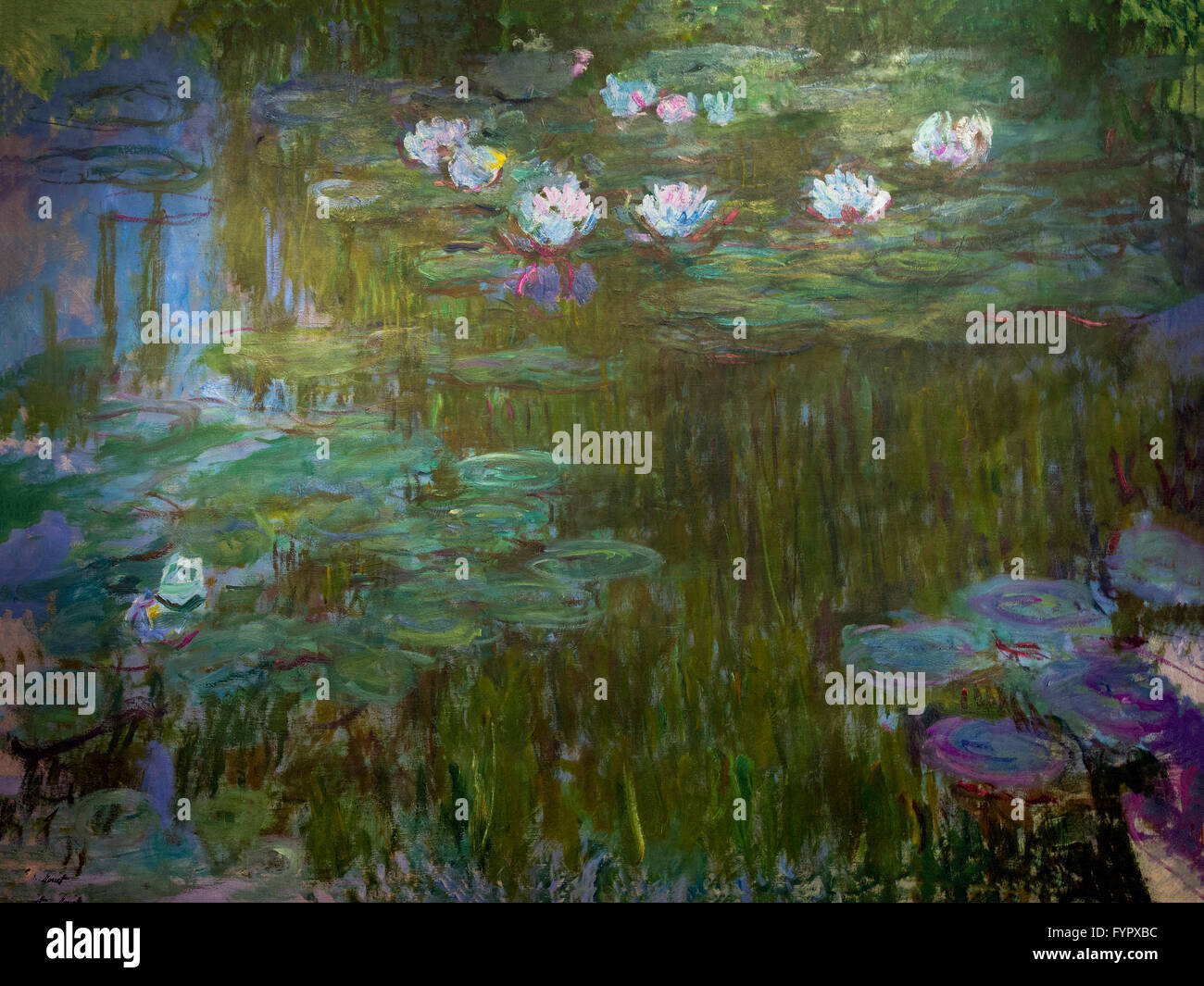 Water Lilies, Nympheas, by Claude Monet,  Musee Marmottan, Paris, France, Europe - Stock Image