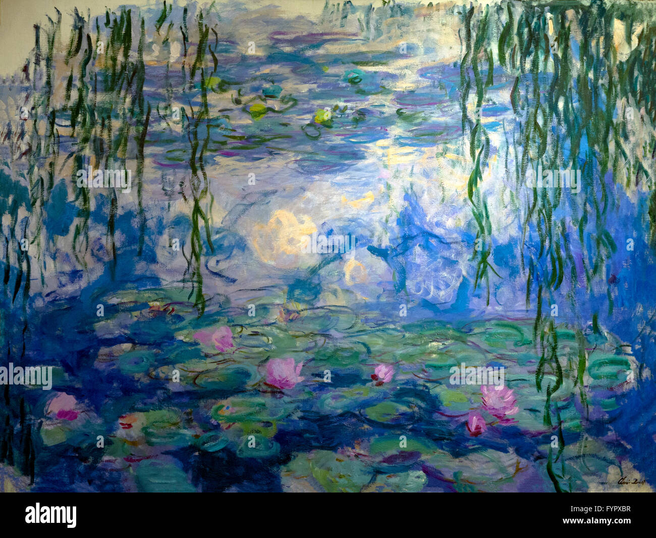 Water Lilies, Nympheas, by Claude Monet,  Musee Marmottan Monet, Paris, France, Europe - Stock Image