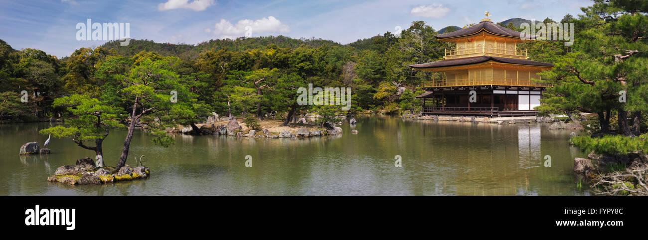 Kinkaku-ji, Temple of the Golden Pavilion, also Rokuon-ji, Zen Buddhist temple, Kyoto, Japan - Stock Image