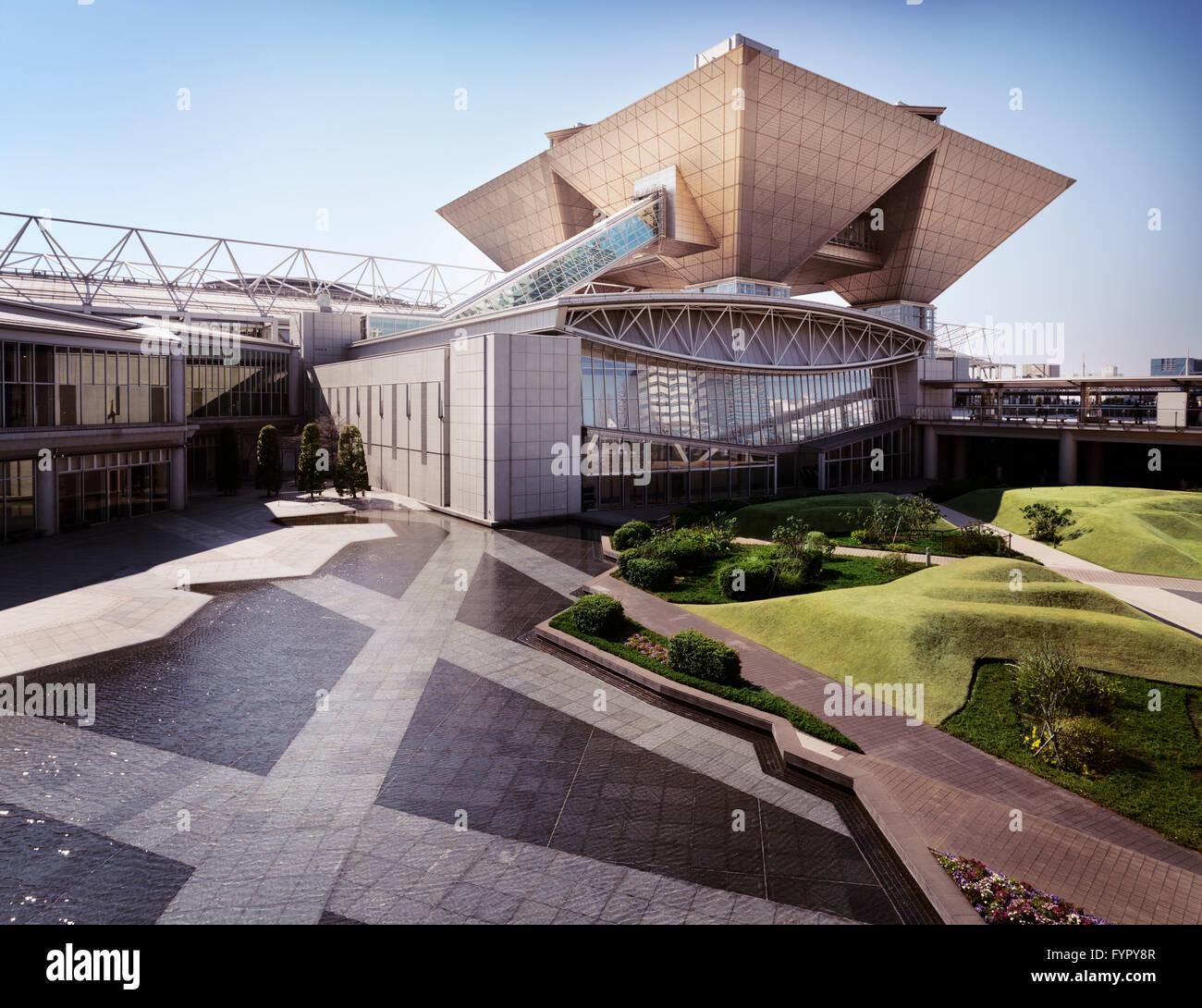 Tokyo Big Sight, or Tokyo International Exhibition Center, Ariake, Tokyo, Japan - Stock Image