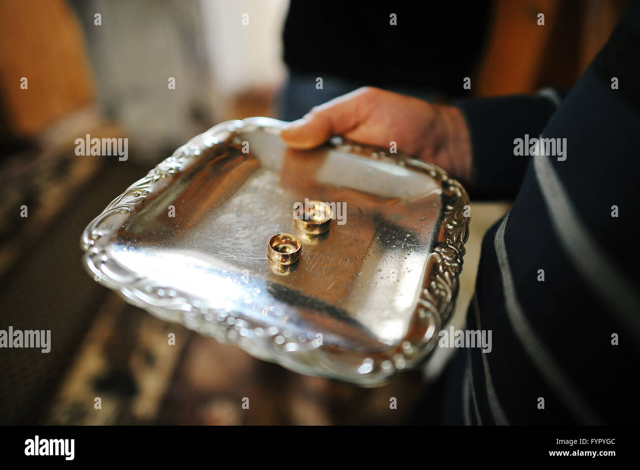 engagement rings - Stock Image