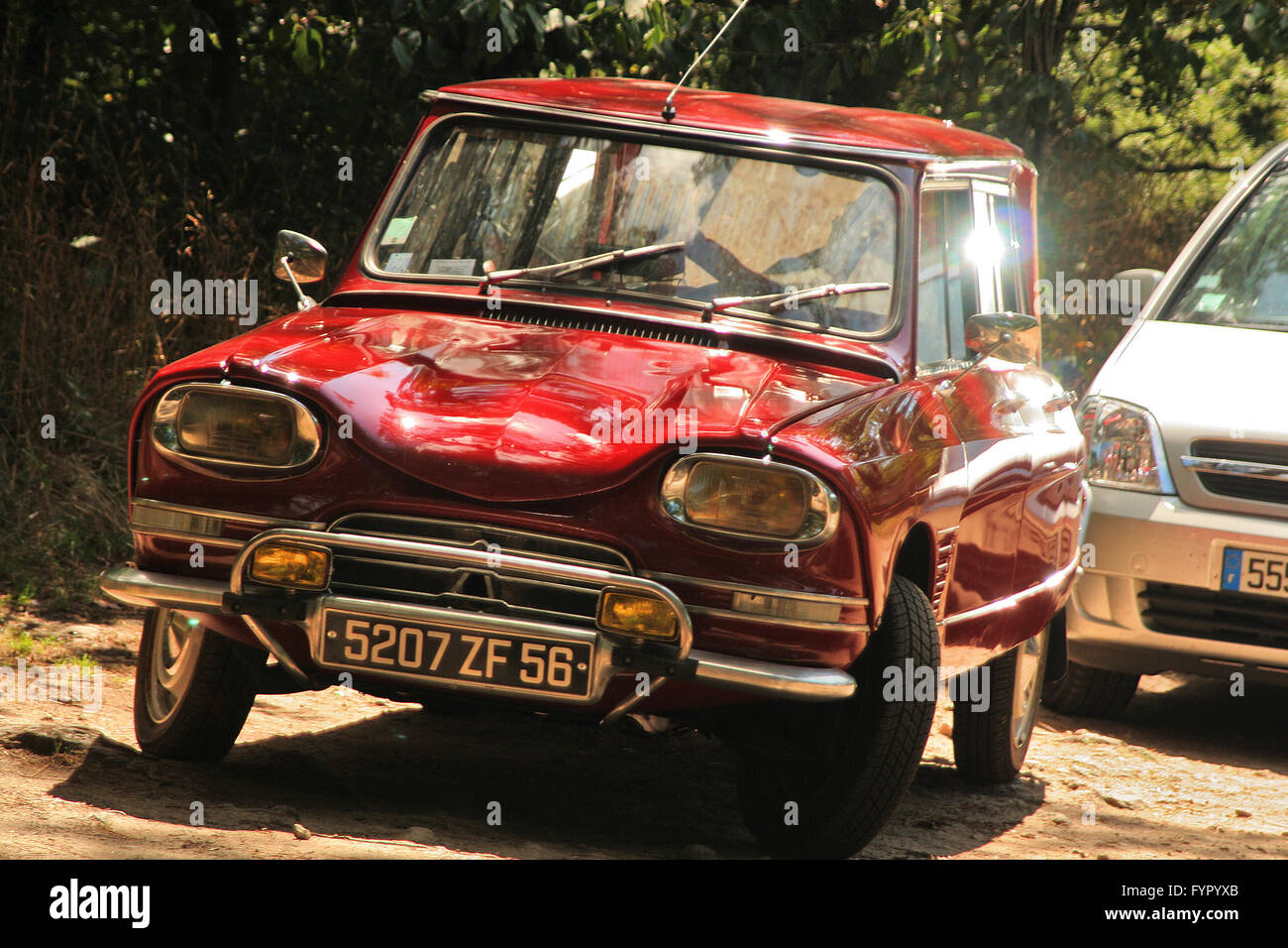 Citroen Ami. Old classic car in red Stock Photo: 103152403 - Alamy