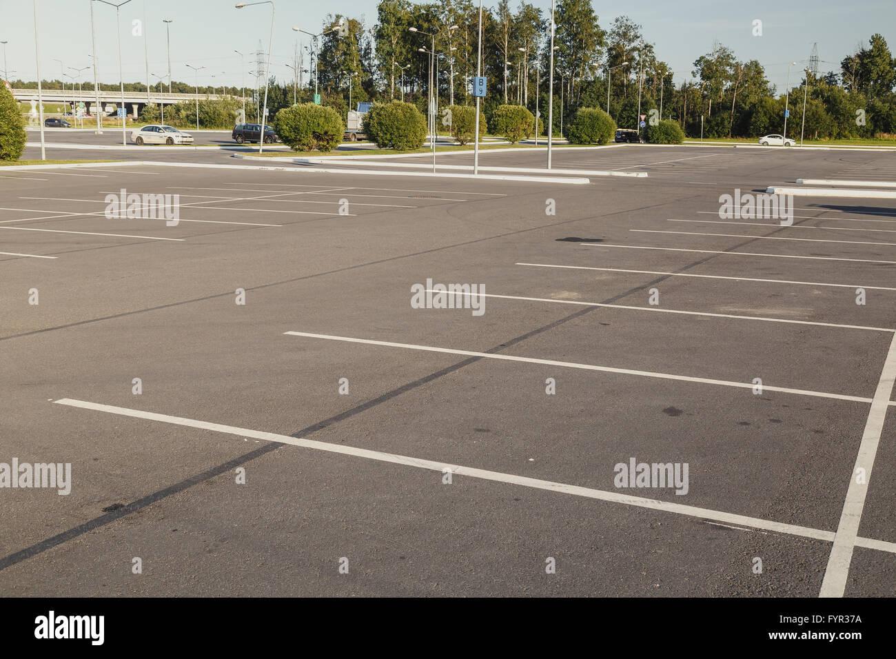 Empty parking lot area - Stock Image