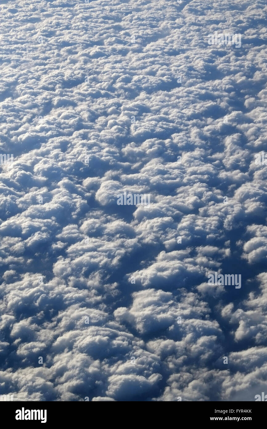 Closed cloud cover - Stock Image
