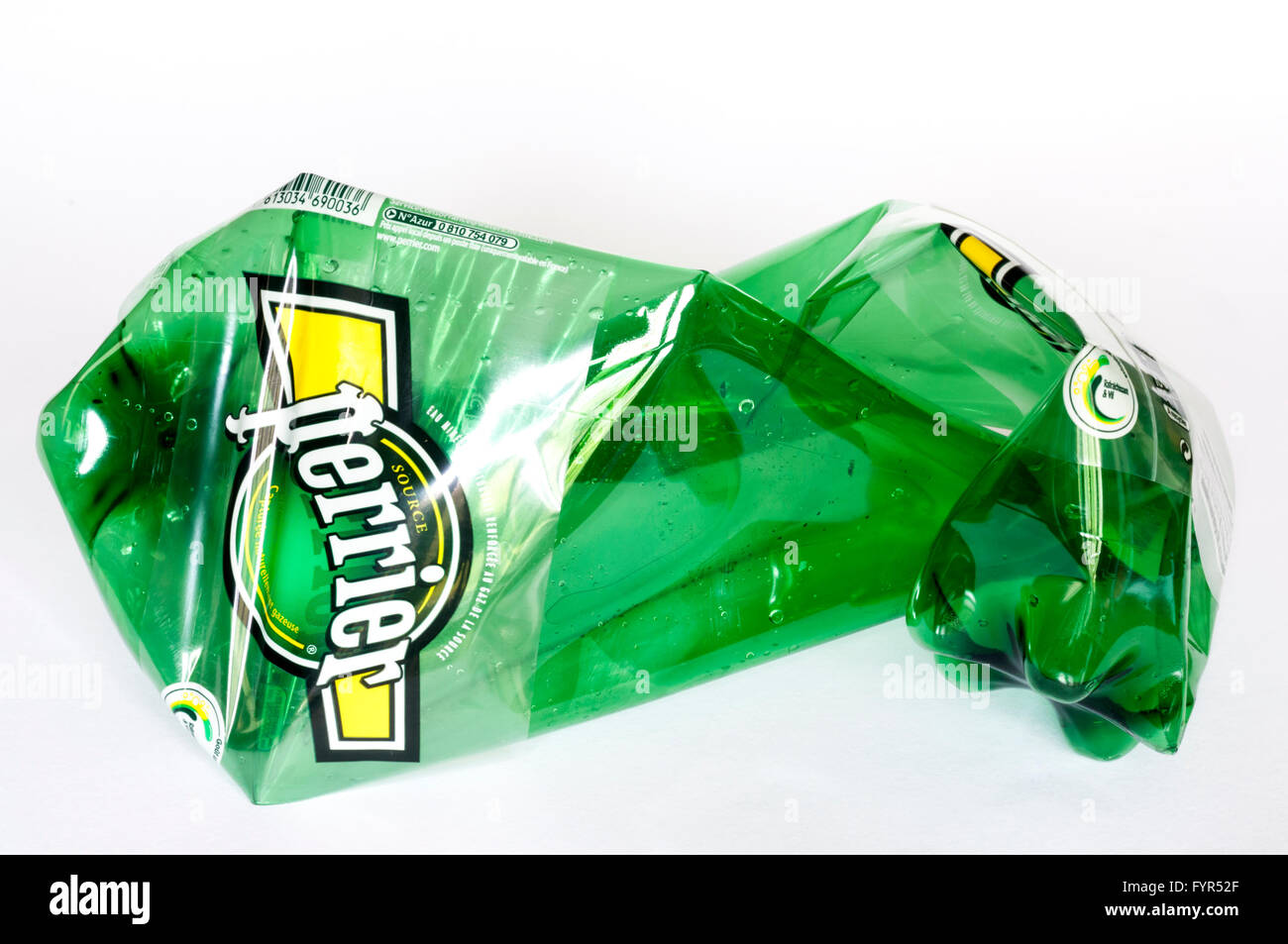 In France, Perrier mineral water is now sold in plastic bottles. - Stock Image