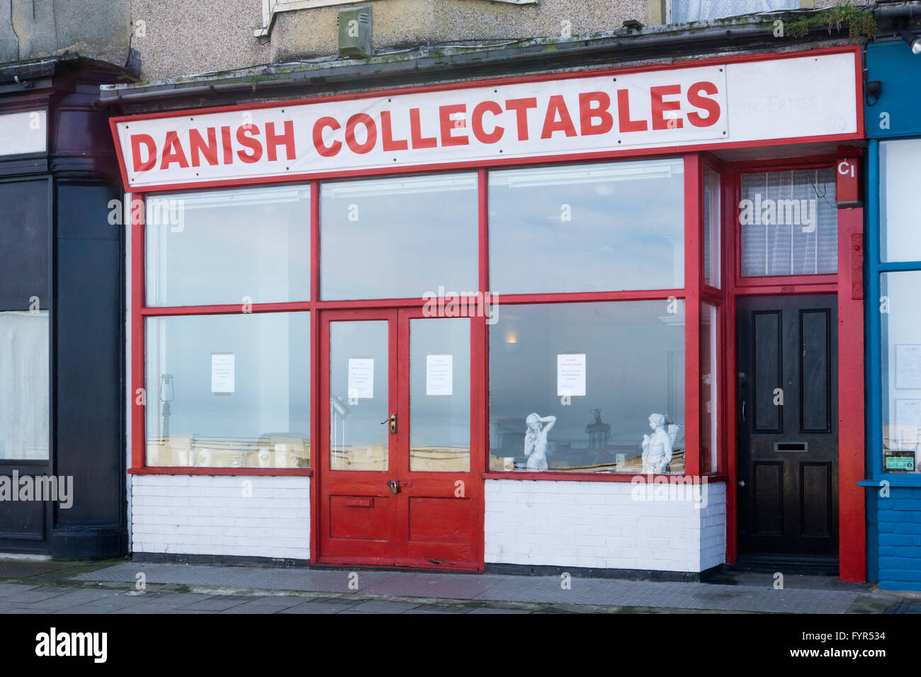 Danish Collectables in Margate, Kent. - Stock Image