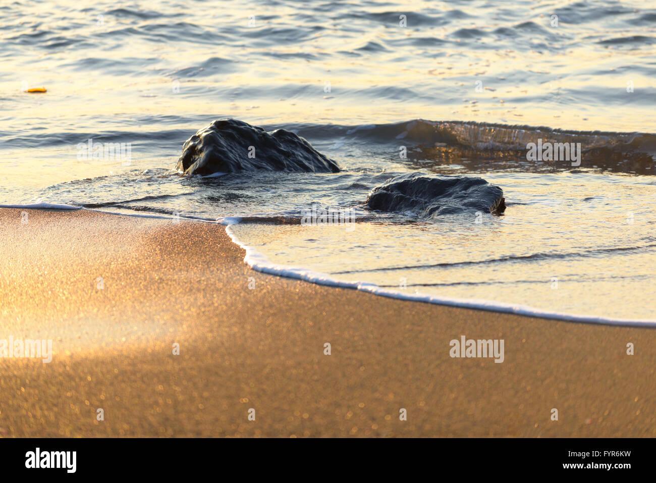 Dawn on the Sea, Sakhalin Island, Russia. - Stock Image