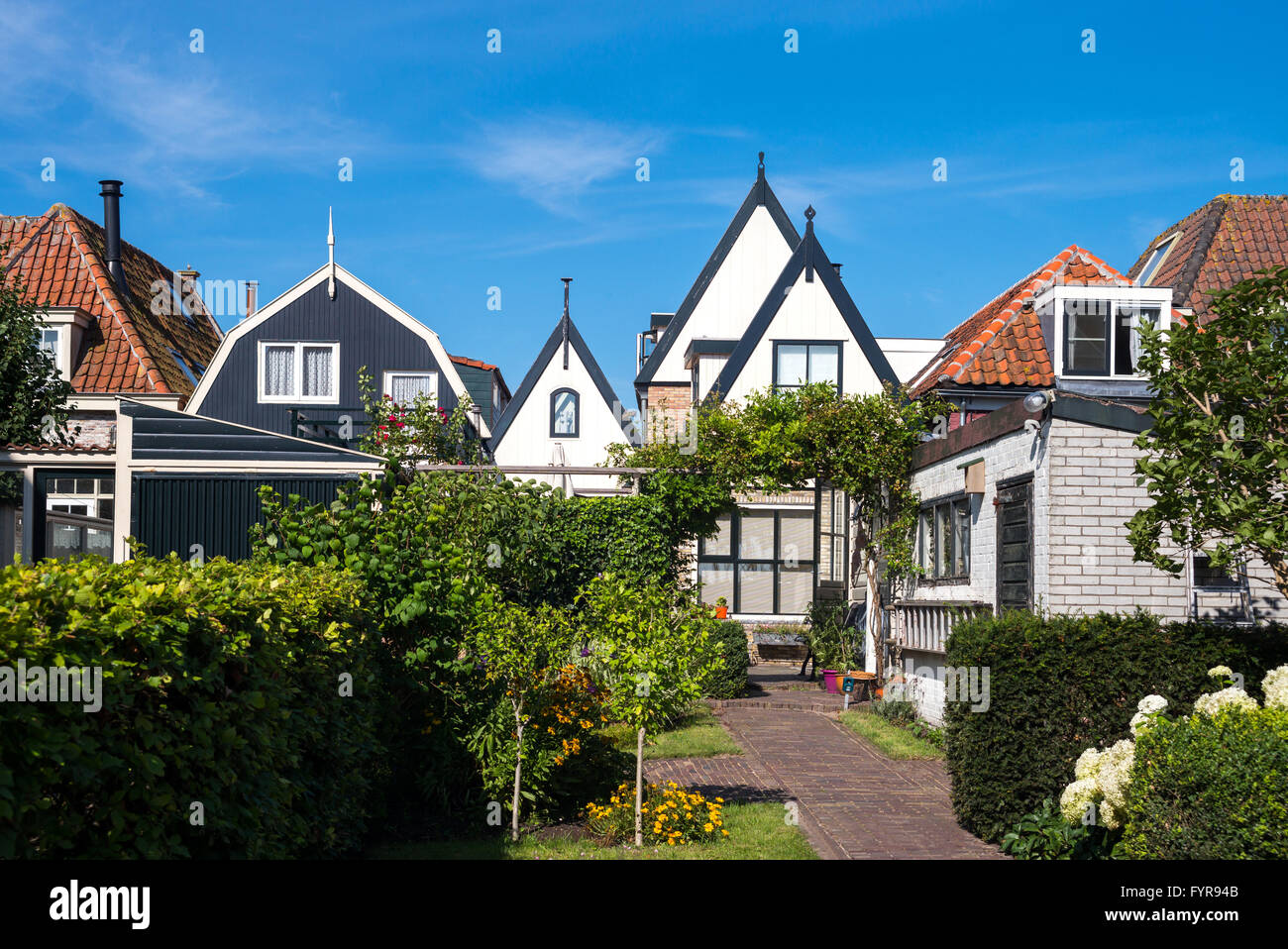 Amsterdam, Waterland district, Marken, view of the traditional house of the village Stock Photo