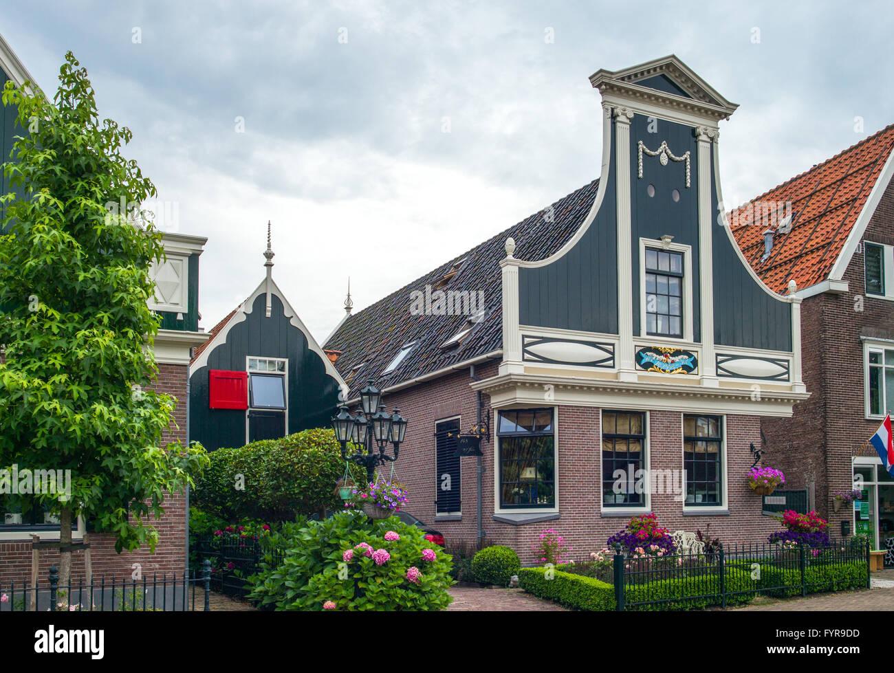 Amsterdam, Waterland district, Zaandam, typical houses Stock Photo